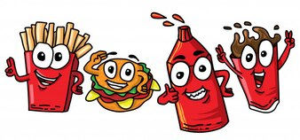 Happy fast food set