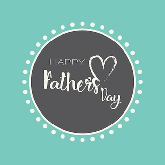 Happy father day family holiday greeting card flat