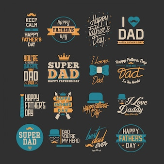 Happy father day typography art