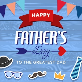 幸せな父の日の背景デザイン