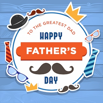 Happy father's day background design