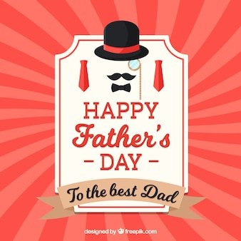 Happy father's day background with lines pattern