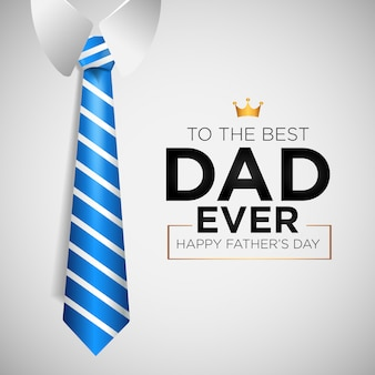 Happy father's day background with tie
