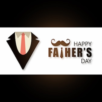 Happy father's day banner design