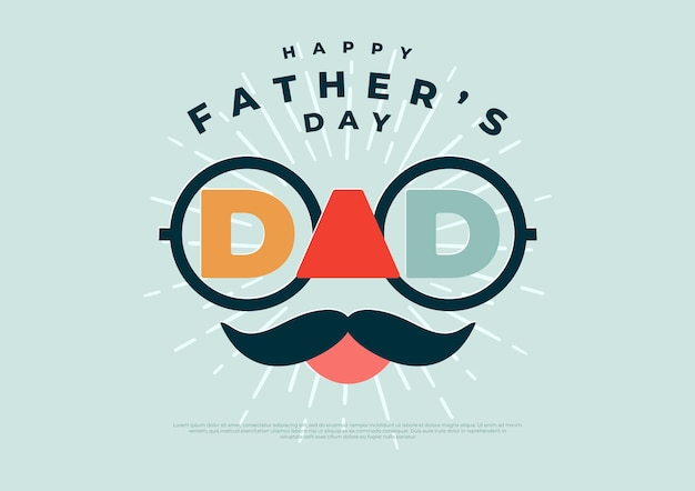 Happy father's day banner and gift card. vector illustration.