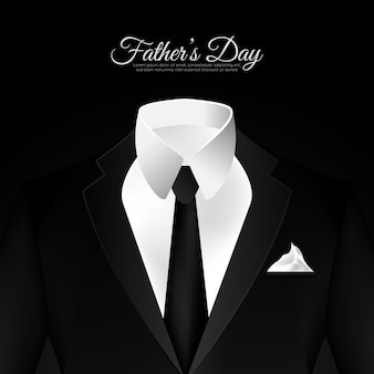 Happy father's day in a black suit background