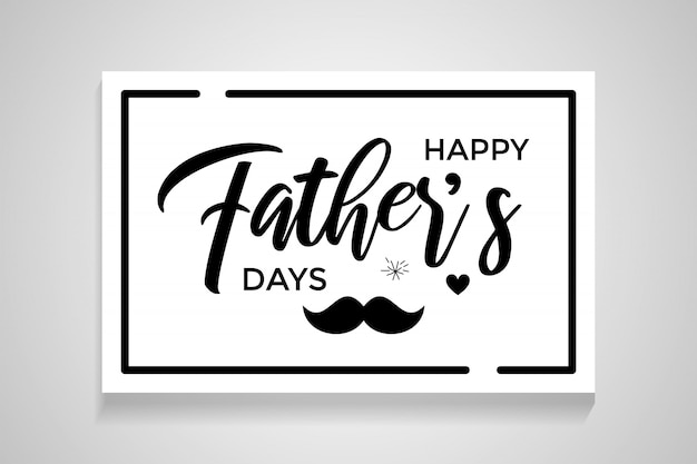Happy father's day calligraphy greeting card