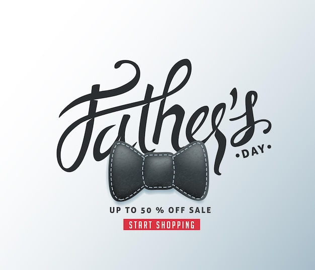 Happy father's day calligraphy greeting and sale banner