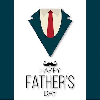 Happy father's day card with creative design vector