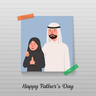 Happy father's day cartoon greeting