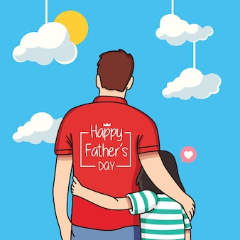 Happy father's day cartoon illustration