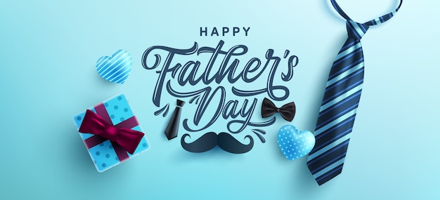 Happy father's day celebration greetings.