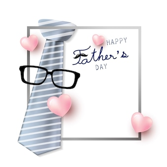 Happy father's day concept design
