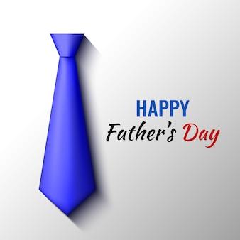 Счастливый день отца дизайн поздравительных открыток. синий галстук