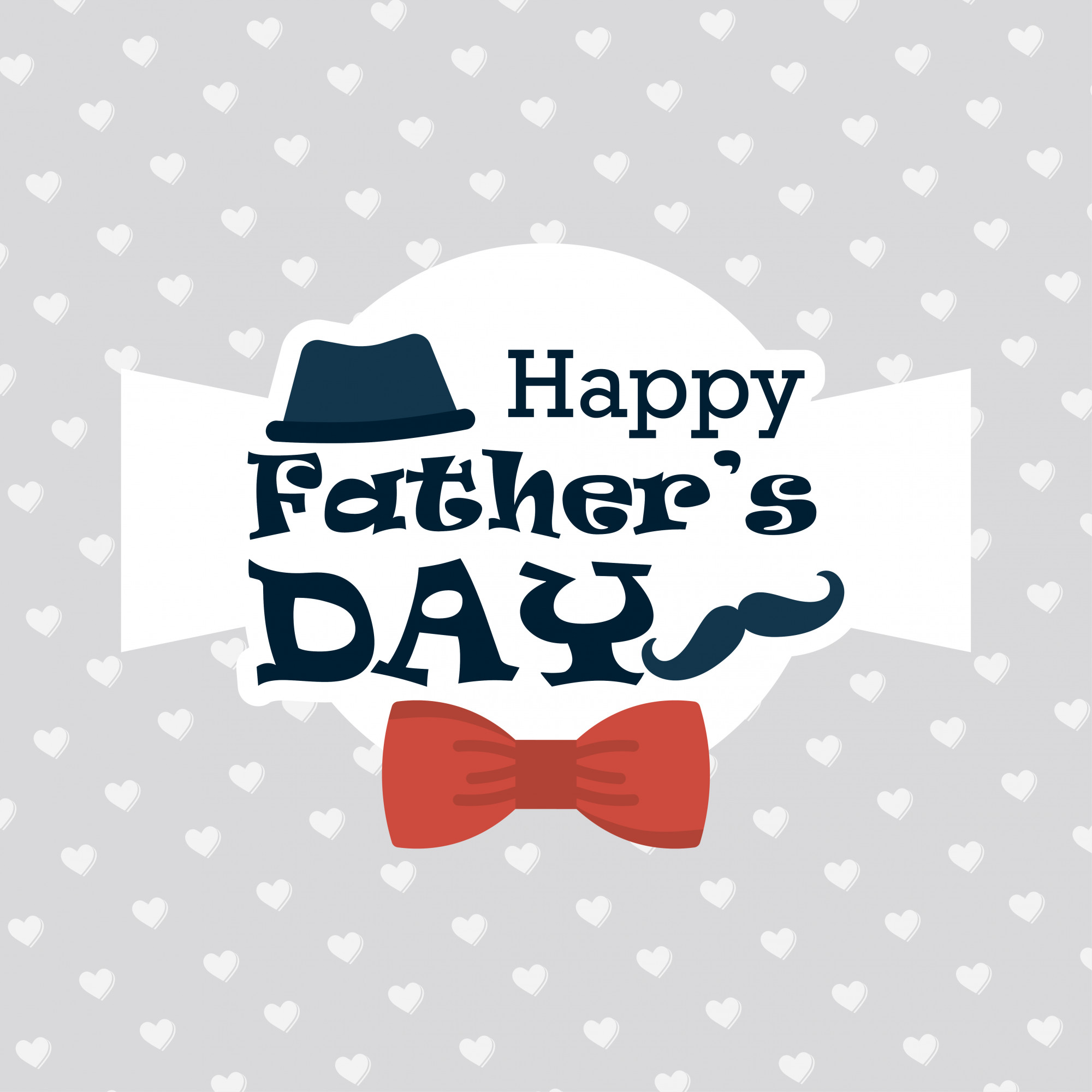 Happy Father's day greeting card with pattern background