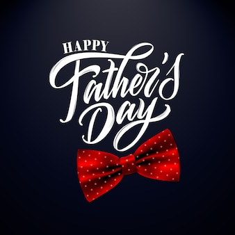 Happy father`s day handwritten lettering, greeting card