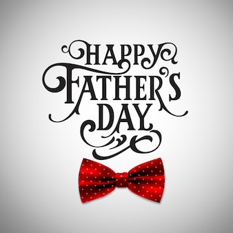 Happy father`s day handwritten lettering.