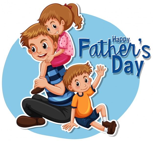 Happy father's day illustration characters