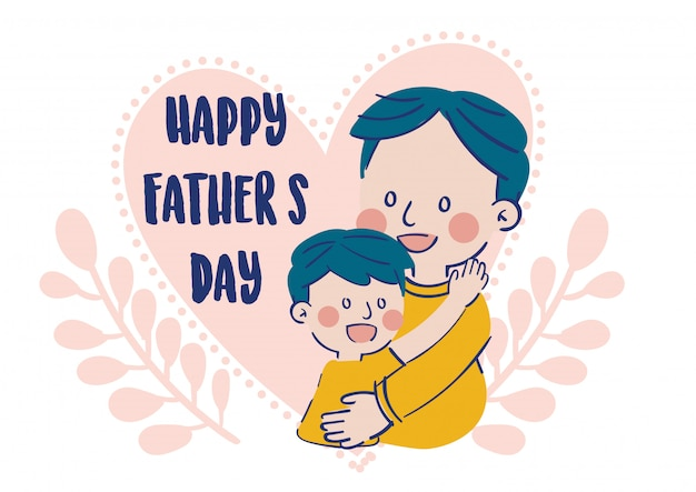 Happy father's day illustration vector