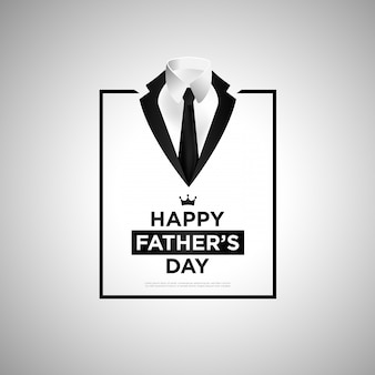 黒のスーツの背景での幸せな父の日