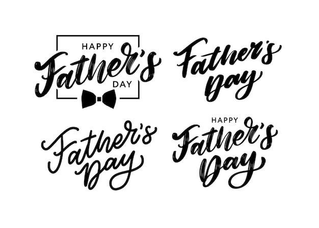Happy father's day. lettering.