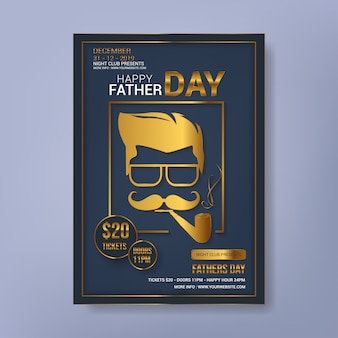 Happy father's day party flyer template