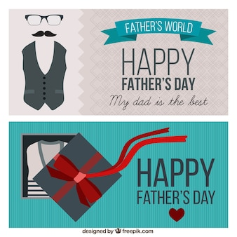 Happy father's day retro banners