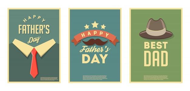 幸せな父の日。レトロなポスター