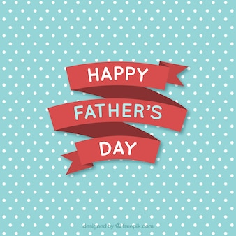 Happy father's day ribbon card