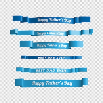 Happy father's day ribbon template