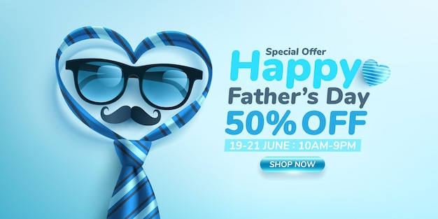 Happy father's day sale banner