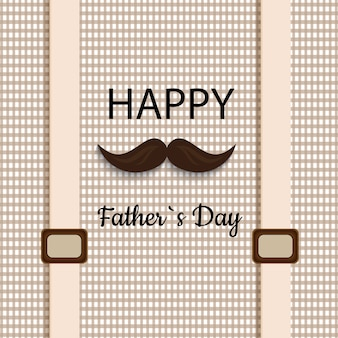 Happy father's day vector illustration based on stylish text on a decorative background.