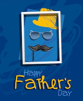 Happy father's day. vector illustration. creative design greeting card for the beloved dad.