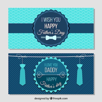 Happy father's day vintage banners
