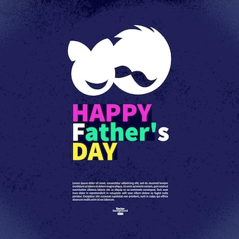 Happy father's day vintage retro card. abstract silhouette sign of father and daughter