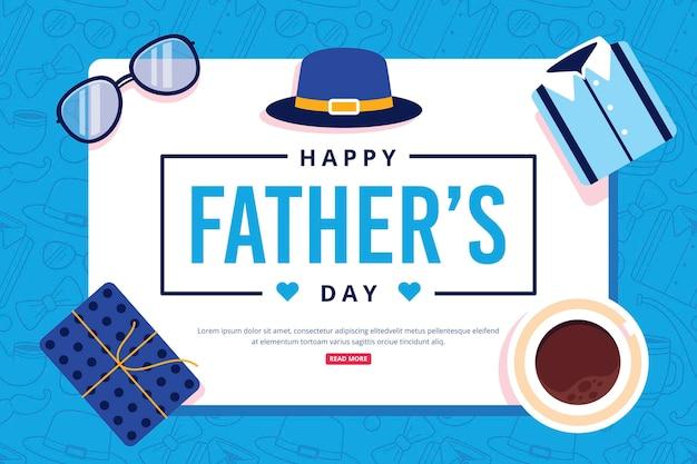 Счастливый день отца с подарком и кофе