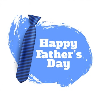Happy fathers day background with realistic tie