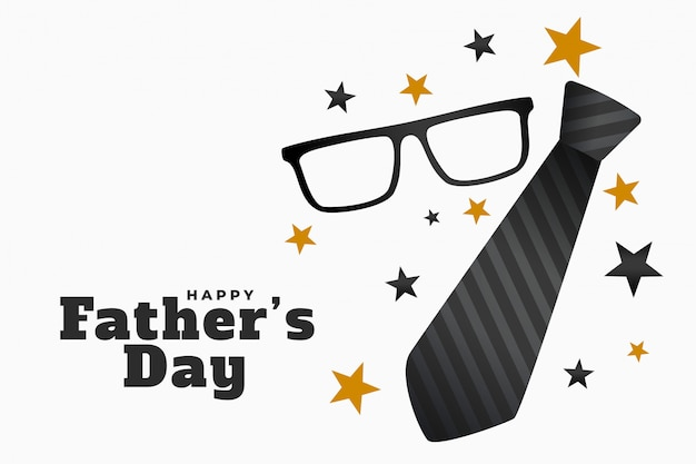 Happy fathers day background with spectacles and tie