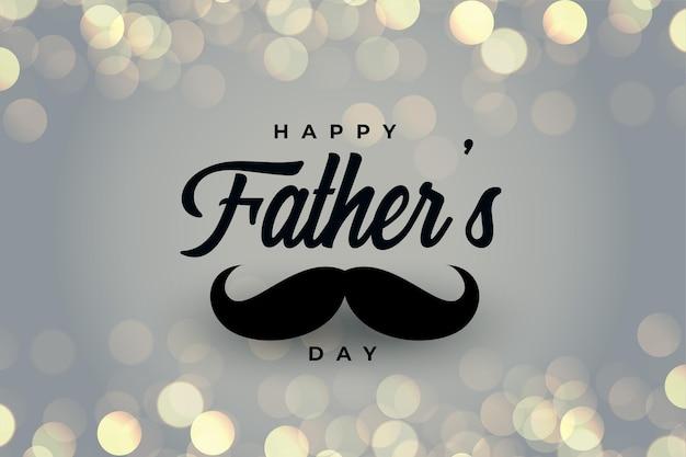 Felice festa del papà bellissimo biglietto di auguri bokeh Vettore gratuito