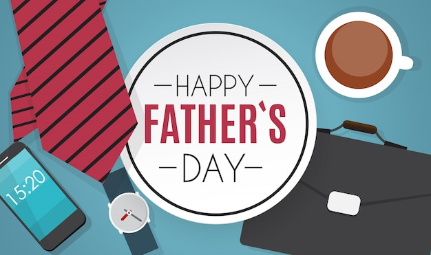 Happy fathers day. best dad vector illustration