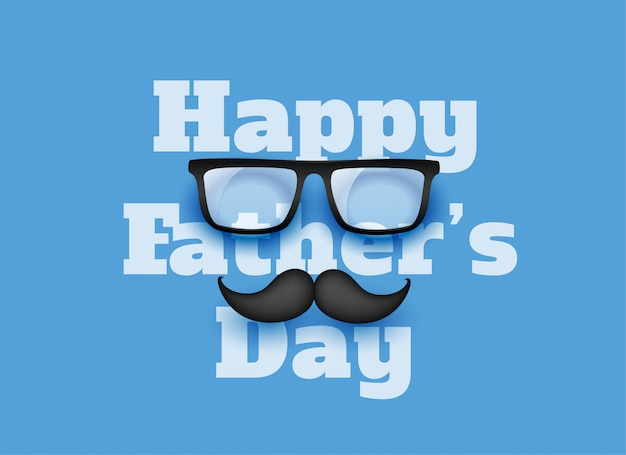 Happy fathers day blue greeting background