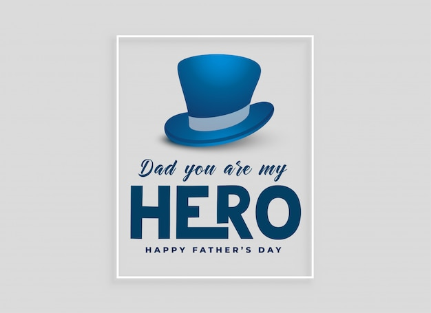 Happy fathers day card design with hat