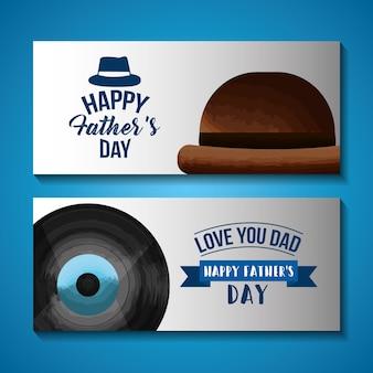 幸せな父の日カード画像