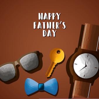 Счастливое изображение карты дня отца