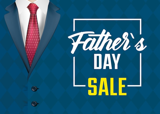 Happy fathers day card with elegant male suit
