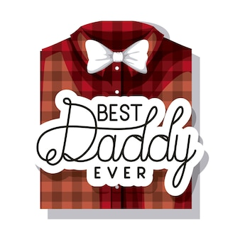 우아한 셔츠와 bowtie 해피 아버지의 날 카드