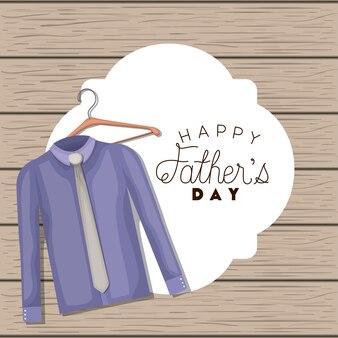 우아한 셔츠와 넥타이로 해피 아버지의 날 카드