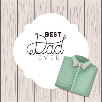 우아한 셔츠와 함께 행복 한 아버지 날 카드