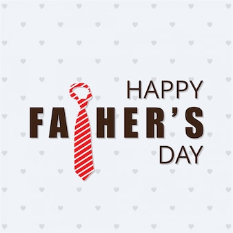 Happy fathers day card with striped tie