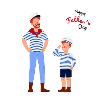Happy fathers day cartoon illustration